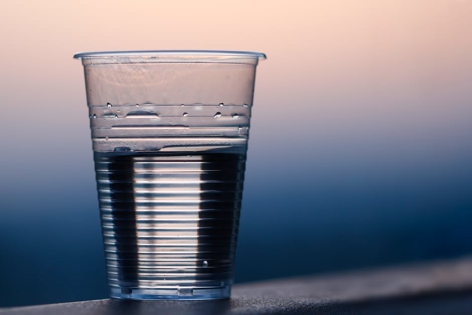 A glass that is half empty
